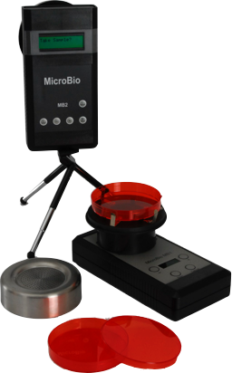 Both standard models of MicroBio bioaerosol samplers