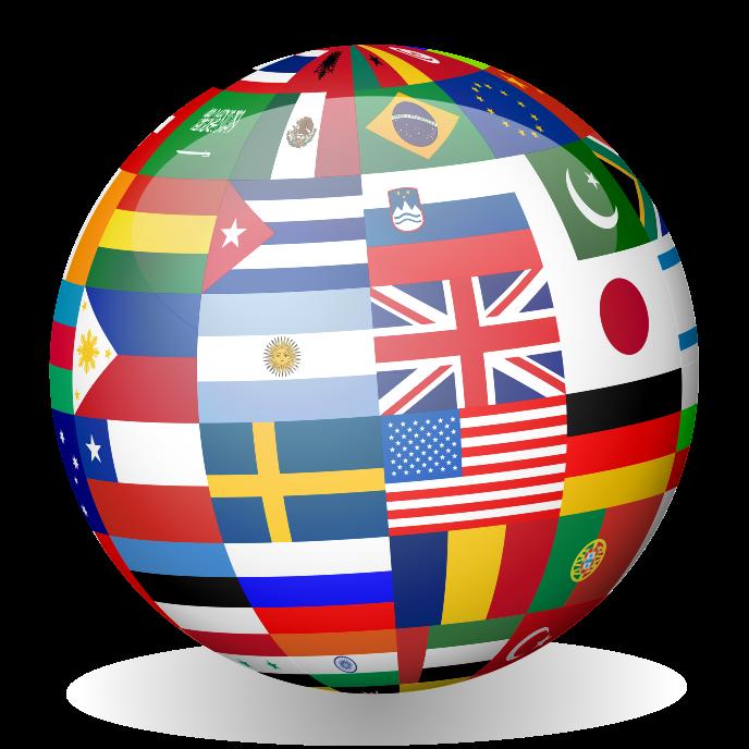 national flag globe